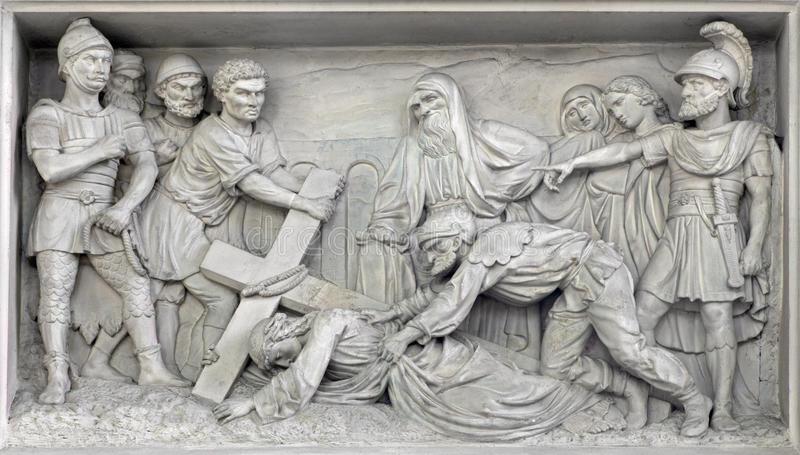 mechelen-steinentlastung-jesus-fall-unter-kreuz-der-kirche-unsere-dame-über-de-dyle-durch-p-j-de-cuyper-67768446