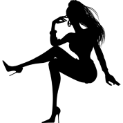 sexy-frau-silhouette-geschenk